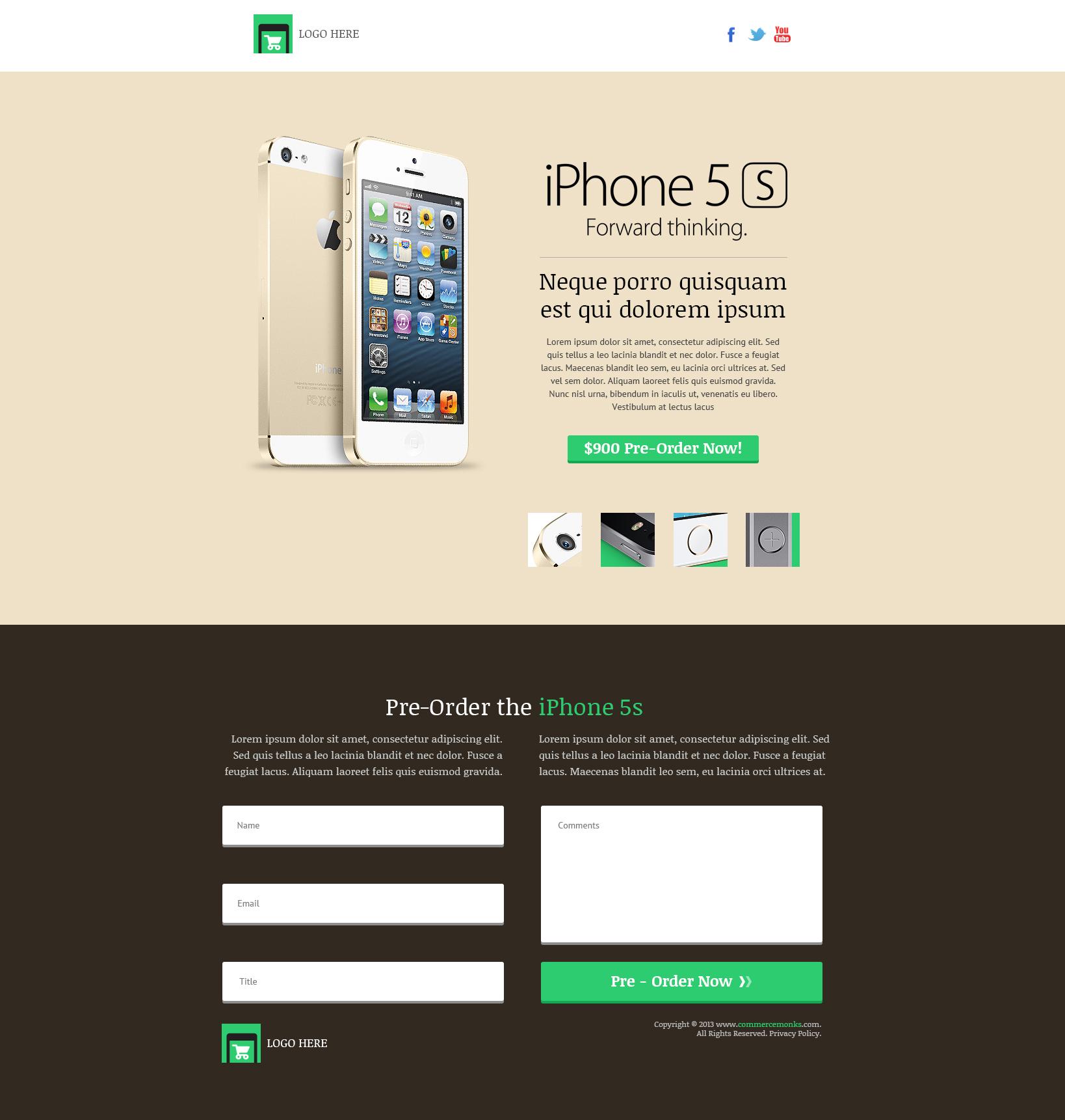 Landing Page Design & Banner Design Services - CommerceMonks
